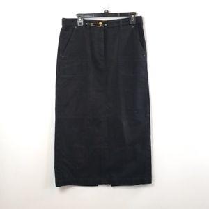 Ralph Lauren Women's Black Long Skirt size 10